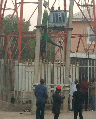 Image result for pictures of electrocuted man in kaduna transformer